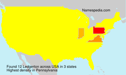 Surname Ledgerton in USA