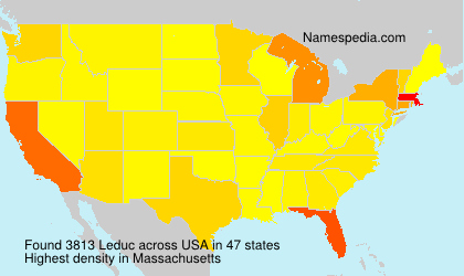 Surname Leduc in USA