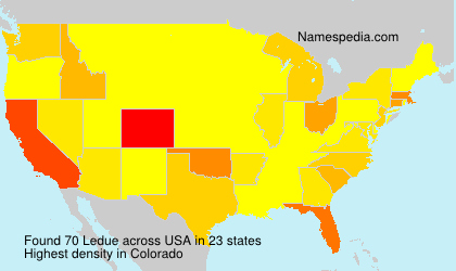 Surname Ledue in USA