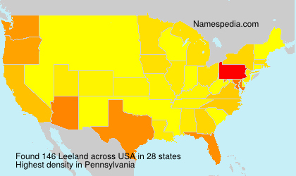 Surname Leeland in USA