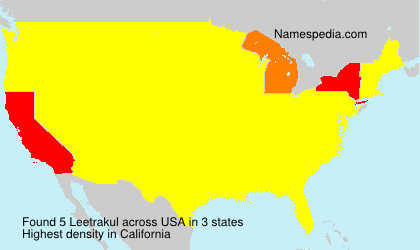 Surname Leetrakul in USA