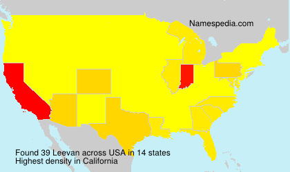 Surname Leevan in USA