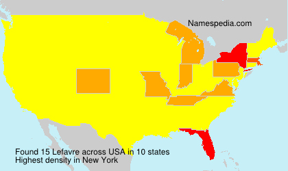 Surname Lefavre in USA