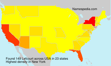 Surname Lefcourt in USA