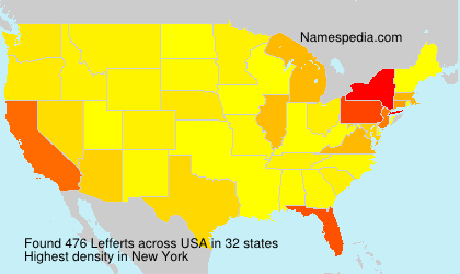 Surname Lefferts in USA