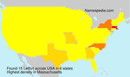 Surname Leffort in USA