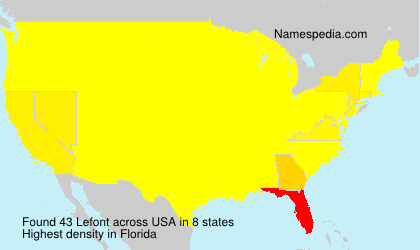 Surname Lefont in USA