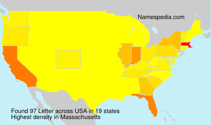 Surname Lefter in USA