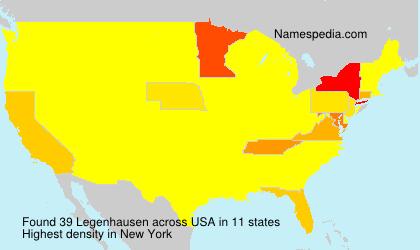 Surname Legenhausen in USA