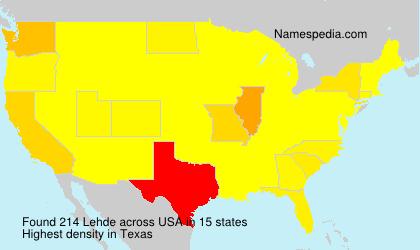 Familiennamen Lehde - USA