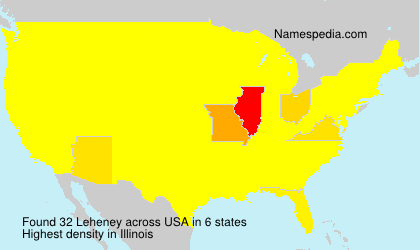 Surname Leheney in USA