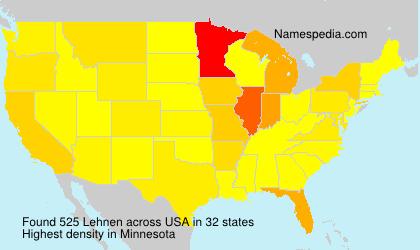 Surname Lehnen in USA