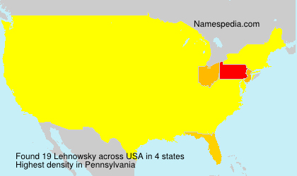 Surname Lehnowsky in USA