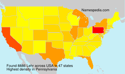 Surname Lehr in USA