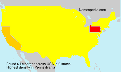 Surname Leiberger in USA