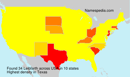 Surname Leibfarth in USA