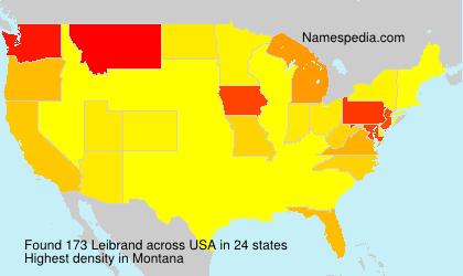 Surname Leibrand in USA