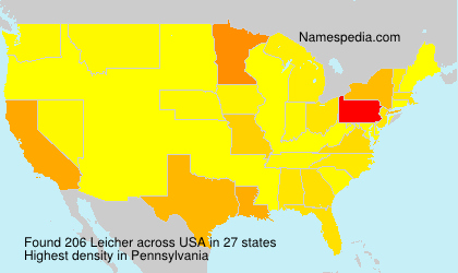 Surname Leicher in USA