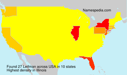 Surname Leifman in USA
