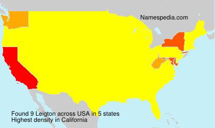 Surname Leigton in USA