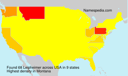 Surname Leipheimer in USA