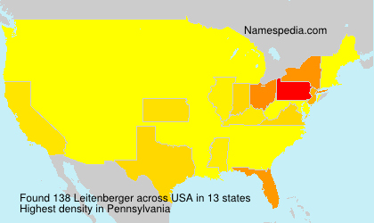 Surname Leitenberger in USA