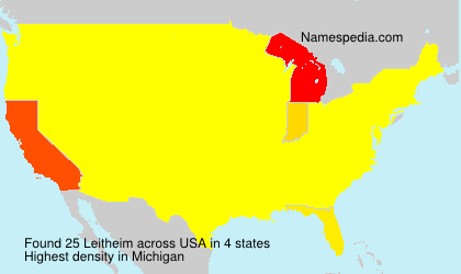 Surname Leitheim in USA