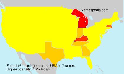 Surname Leitsinger in USA