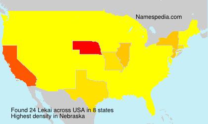 Familiennamen Lekai - USA