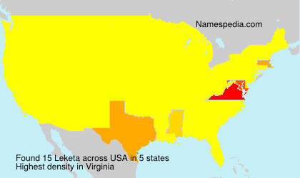 Surname Leketa in USA