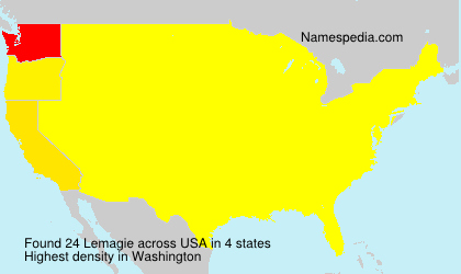 Surname Lemagie in USA