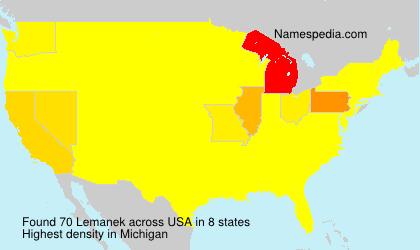 Surname Lemanek in USA