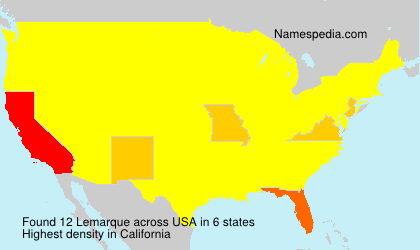 Surname Lemarque in USA