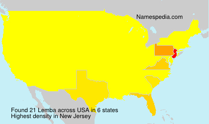 Surname Lemba in USA