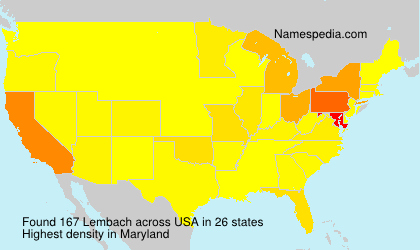 Surname Lembach in USA