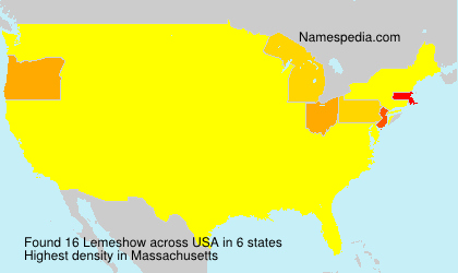 Surname Lemeshow in USA