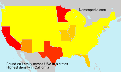 Surname Lemky in USA