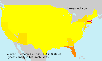Surname Lemonias in USA