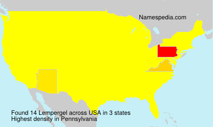 Surname Lempergel in USA