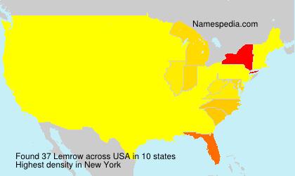 Familiennamen Lemrow - USA