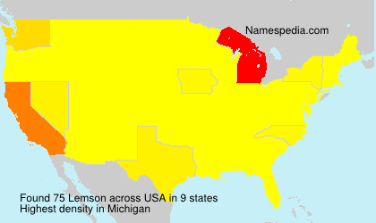 Surname Lemson in USA