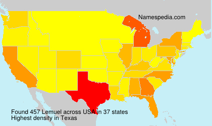 Surname Lemuel in USA