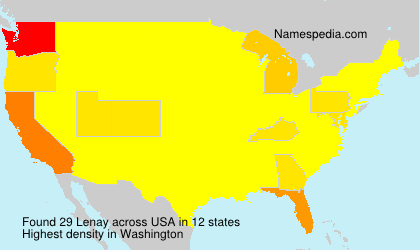 Surname Lenay in USA