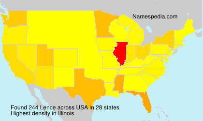 Surname Lence in USA