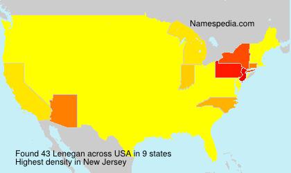 Surname Lenegan in USA