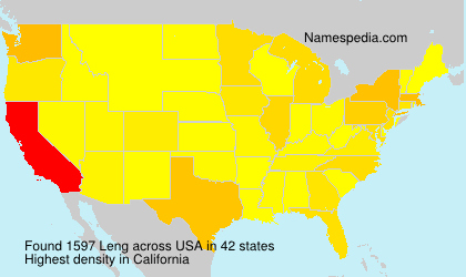 Surname Leng in USA