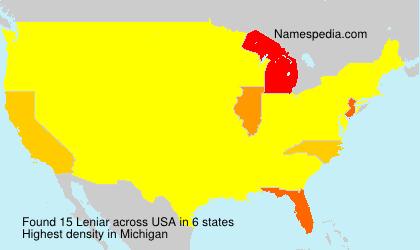 Surname Leniar in USA