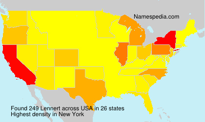 Surname Lennert in USA