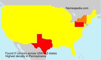 Familiennamen Lenzoni - USA