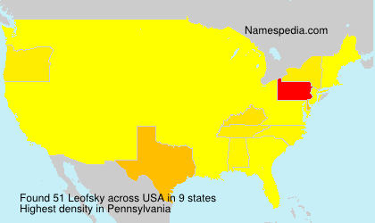 Surname Leofsky in USA